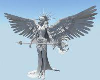 天使,法师,游戏美女maya模型