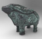 青铜牛尊3D模型(实体扫描)