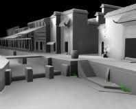 江南古镇,村庄maya模型
