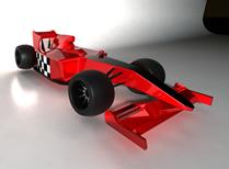 红色F1赛车3D模型