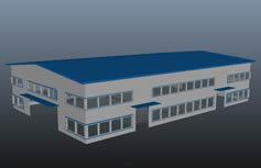 工厂用厂房maya模型