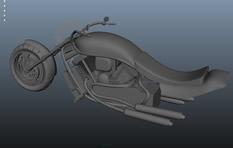 哈雷摩托车3D模型