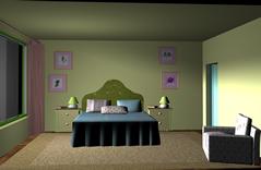 卧室,房间,室内设计3D模型