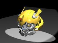 原创精致大黄蜂头部3D模型