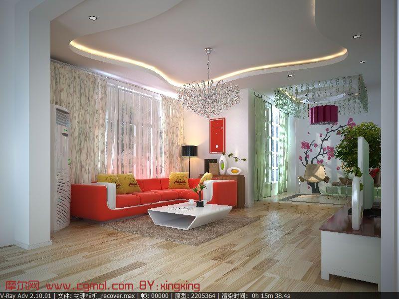清新室内装修设计3D模型