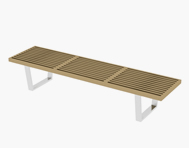长条凳,凳子3D模型