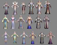 神魔大陆精灵法师男女全套3D模型