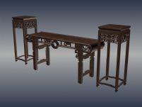 明清桌椅3D模型