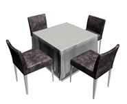 餐桌,桌椅组合3D模型