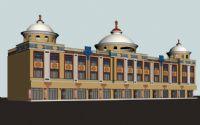 蒙氏楼,蒙氏建筑,古代建筑3D模型