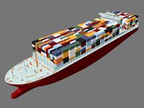 货轮,运输船maya模型
