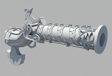 火枪3D模型