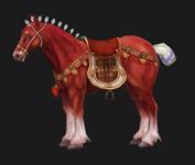 赤兔马,3D游戏坐骑模型