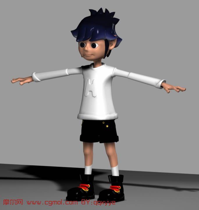 卡通角色maya模型