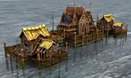 海边小屋,渔民房屋,游戏场景3D模型