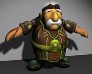 老头,3D游戏角色模型