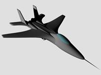 单喷苏27,单引擎苏27战斗机3D模型