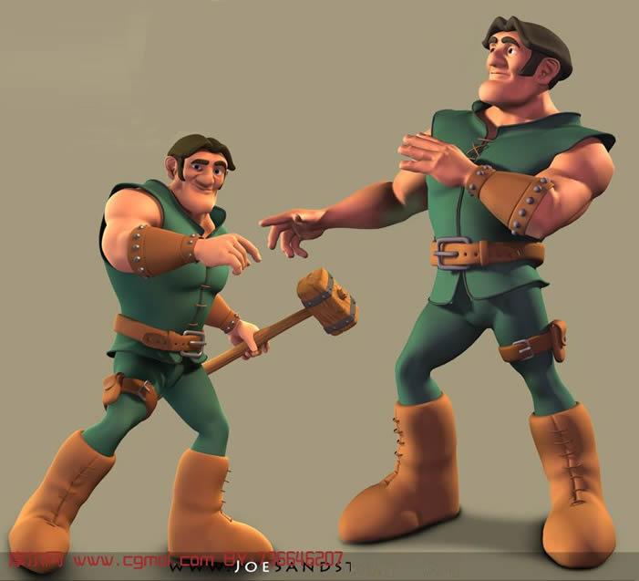 卡通人物maya模型 maya最新照片 高清图片