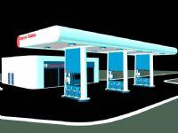 精细加油站maya模型