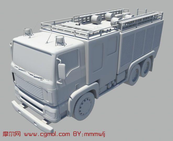 消防车,maya汽车模型