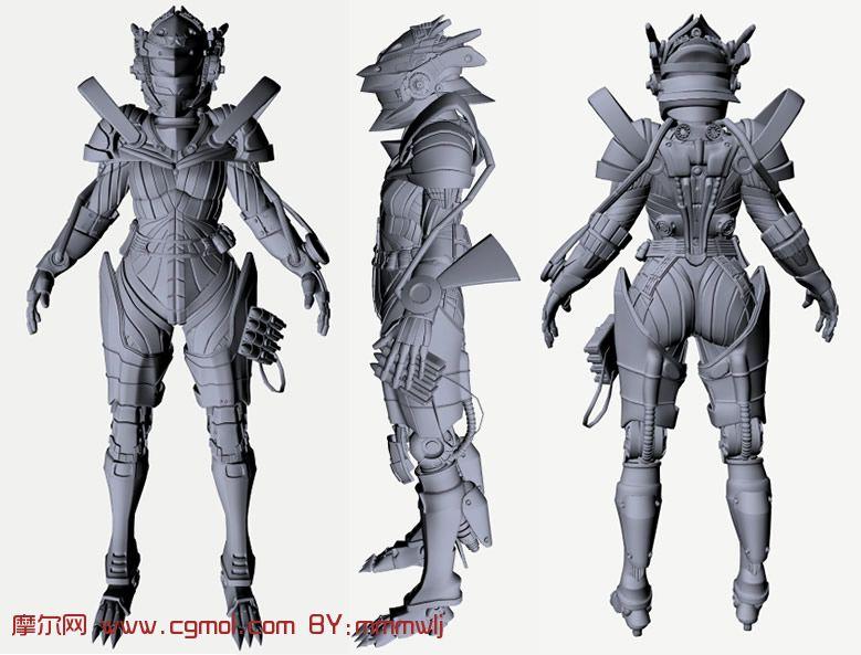 机械战士,机器人,maya科幻角色模型,机械角色,机高清图片