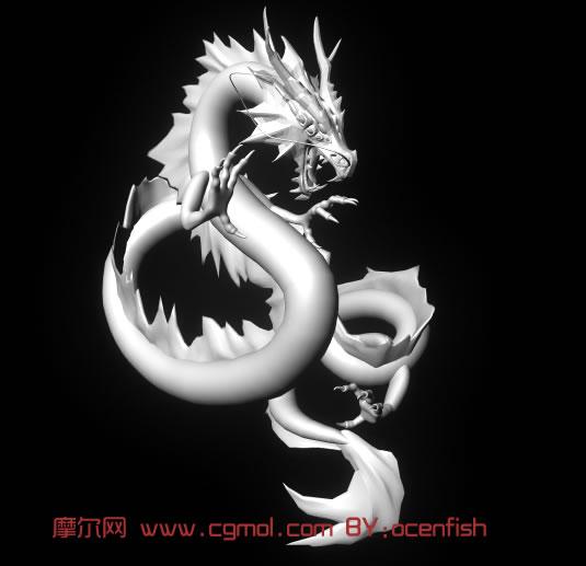 霸气外露中国龙maya模型 历史角色 动画角色