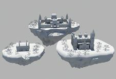 悬浮岛,maya场景模型