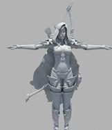 高精度魔兽希尔瓦纳斯maya模型