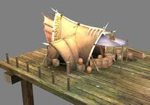 很赞的帐篷,海港,3D游戏场景模型