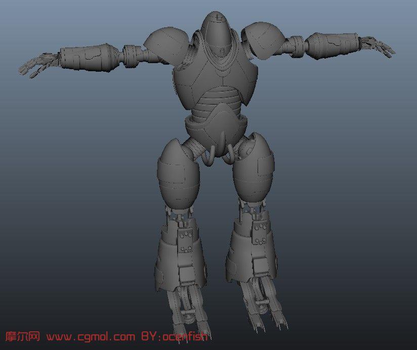 精细机器人maya模型高清图片