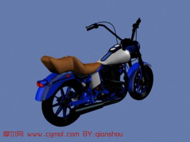 简易摩托车3d模型