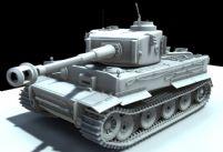 霸气高精虎式坦克maya模型
