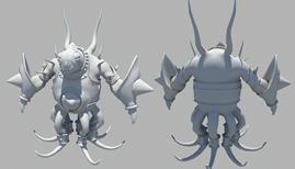 精致章鱼怪maya模型