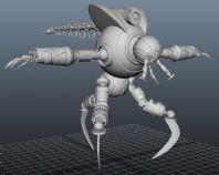 精细机械怪兽maya文件