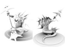 超帅娜迦皇家卫兵,娜迦战士maya模型
