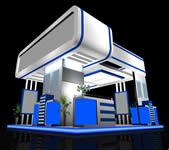 蓝白科技展厅3D模型