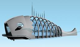 鱼型建筑,现代建筑3D模型