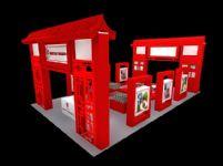 中式风格的食品展厅3D模型