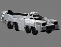 导弹,导弹发射车3D模型