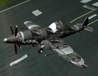 老式飞机maya模型