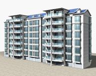 建筑楼房,高层住宅3D模型