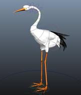鹤3D模型