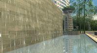 水幕场景,酒店外观整体设计3D模型