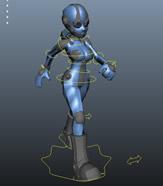机器人,机器女孩maya模型(已绑定)