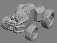 四驱车,山地车,拉力车3D模型