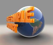 地球加3D文字的模型