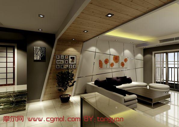 灰色空间-客厅; 唐琰; 唐琰- 室内设计师网站