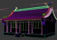 寺庙,庙宇,房子3D模型