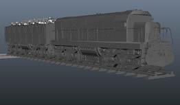 拉煤火车,运煤火车,货运火车maya模型