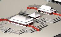 故宫三大殿,太和殿,金銮殿,中和殿,保和殿,古代建筑3D模型